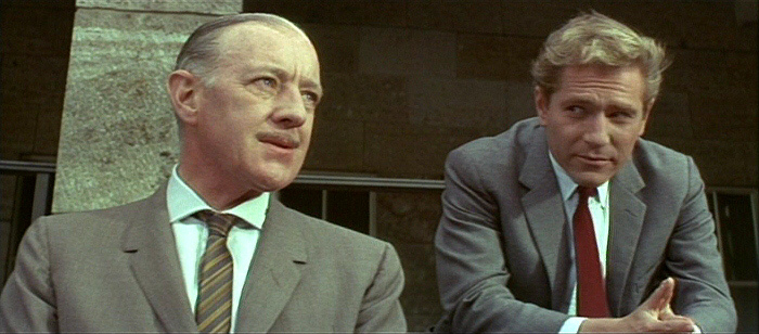 Alec Guinness & George Segal in The Quiller Memorandum