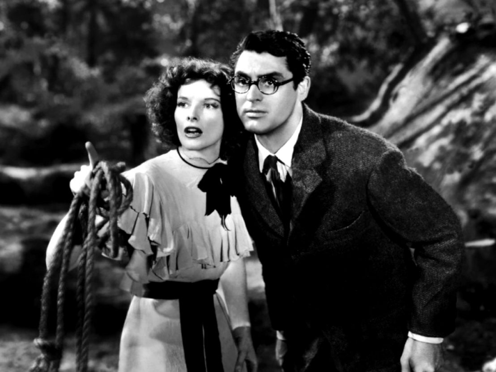 Katharine Hepburn & Cary Grant in Bringing Up Baby