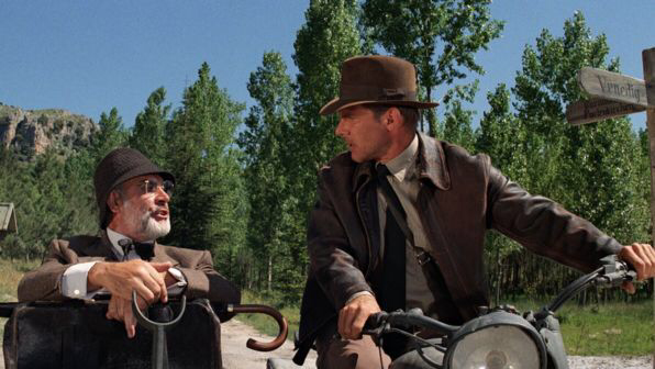 Sean Connery & Harrison Ford in Indiana Jones & The Last Crusade