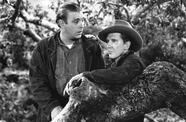 Lon Chaney, Jr. & Burgess Meredith in Of Mice & Men
