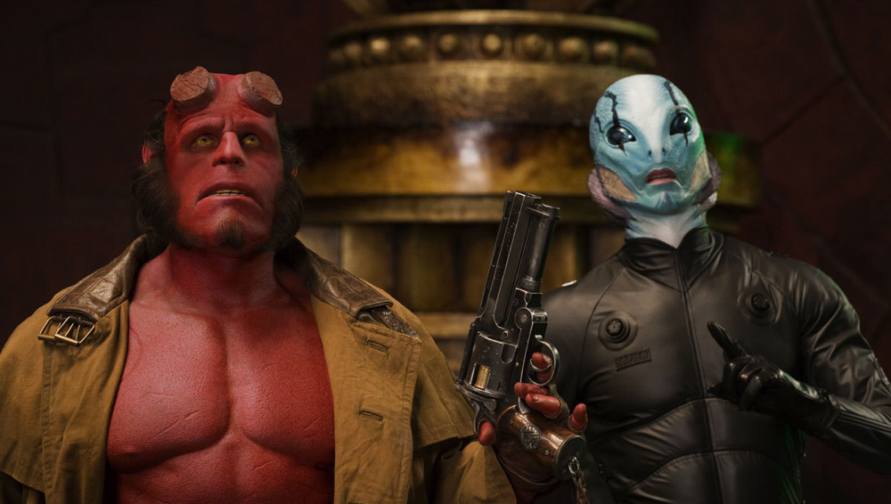 Ron Perlman & Doug Jones in Hellboy: The Golden Army
