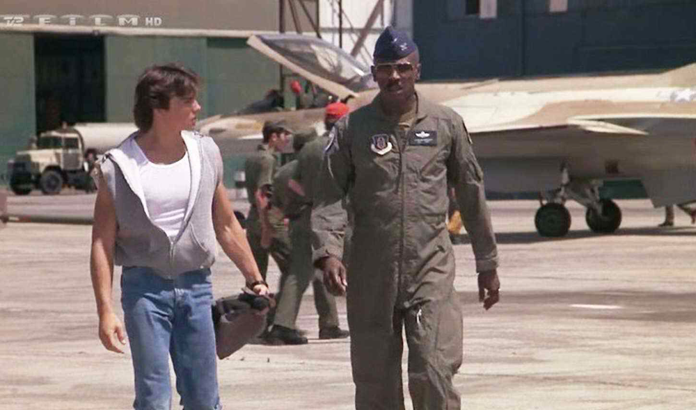 Jason Gedrick & Louis Gossett, Jr. in Iron Eagle