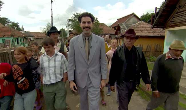 Sacha Baron Cohen in Borat: Cultural Learnings of America for Make Benefit Glorious Nation of Kazakhstan