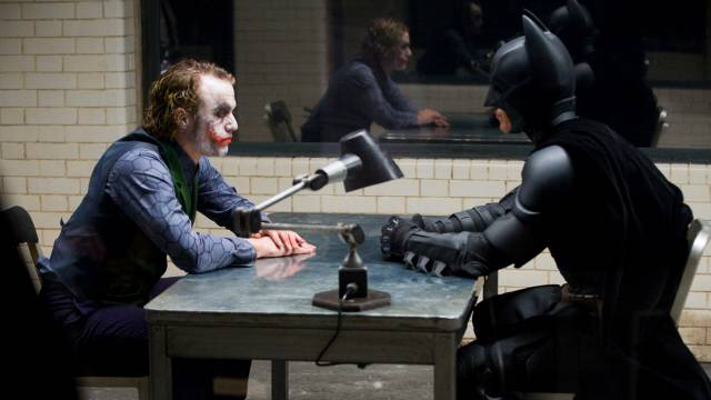 Heath Ledger & Christian Bale in The Dark Knight