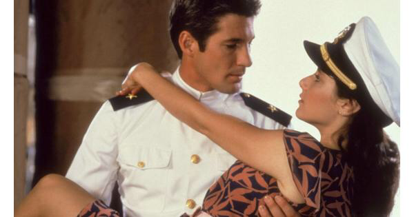 Richard Gere & Debra Winger in An Officer & A Gentleman