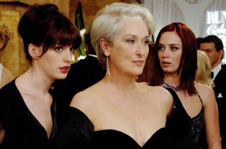 Anne Hathaway, Meryl Streep & Emily Blunt in The Devil Wears Prada