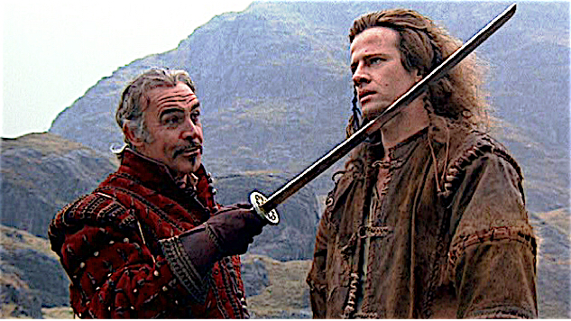 Sean Connery & Christopher Lambert in Highlander