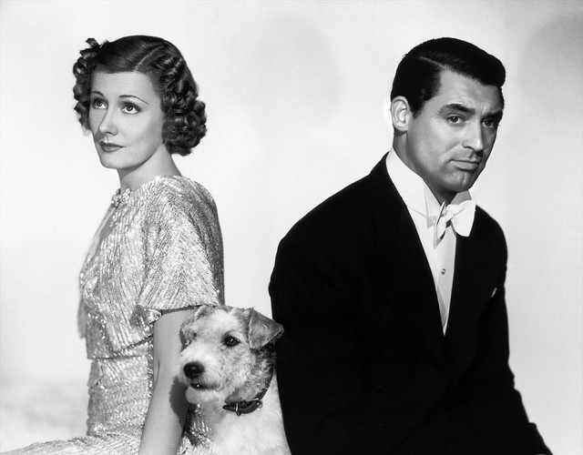 Irene Dunne (left) in The Awful Truth
