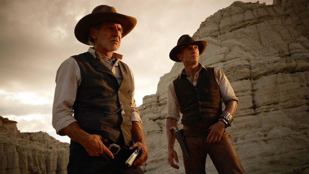 Harrison Ford & Daniel Craig in Cowboys & Aliens