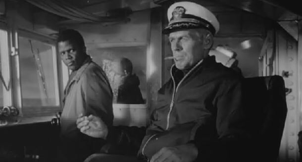 Sidney Poitier & Richard Widmark in The Bedford Incident