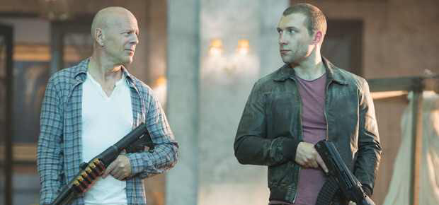 Bruce Willis & Jai Courtney in A Good Day To Die Hard