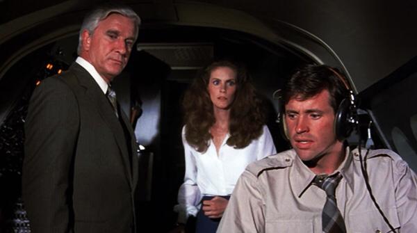Leslie Nielsen, Julie Hagerty & Robert Hays in Airplane!