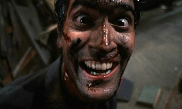 Bruce Campbell in Evil Dead 2: Dead by Dawn