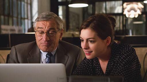 Robert DeNiro & Anne Hathaway in The Intern