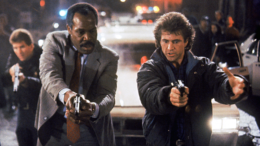Danny Glover & Mel Gibson in Lethal Weapon 2