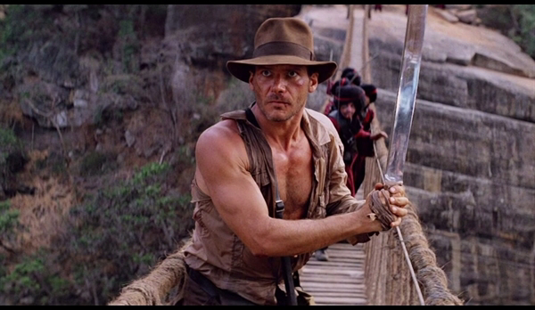 Harrison Ford in Indiana Jones & The Temple of Doom
