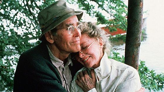 Henry Fonda & Katharine Hepburn in On Golden Pond
