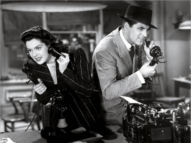 Rosalind Russell & Cary Grant in His Girl Friday