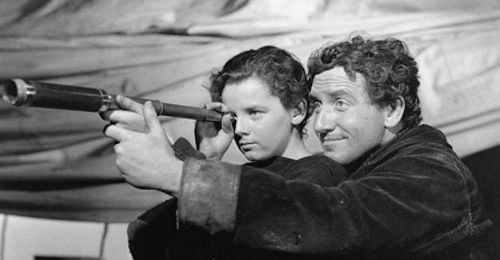 Freddie Bartholomew & Spencer Tracy in Captains Courageous