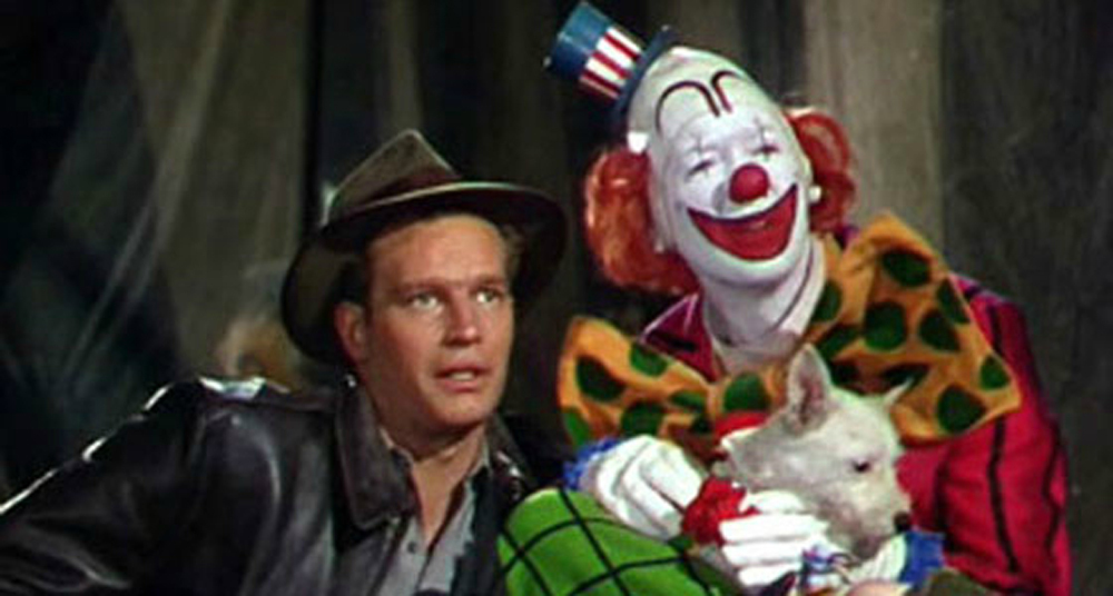 Charlton Heston & James Stewart in The Greatest Show on Earth
