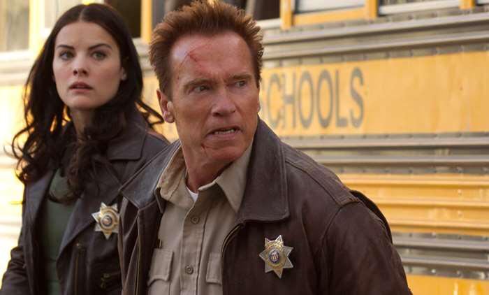 Jaime Alexander & Arnold Schwarzenegger in The Last Stand