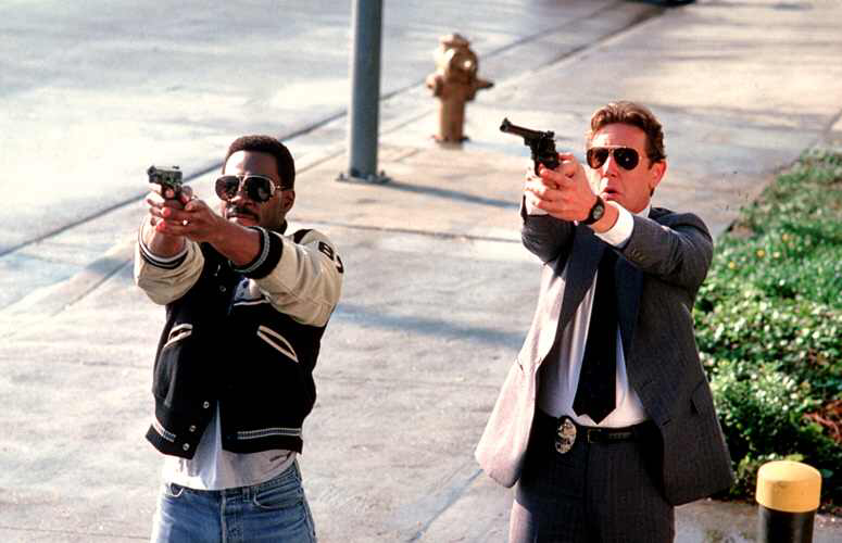 Eddie Murphy & Judge Reinhold in Beverly Hills Cop II