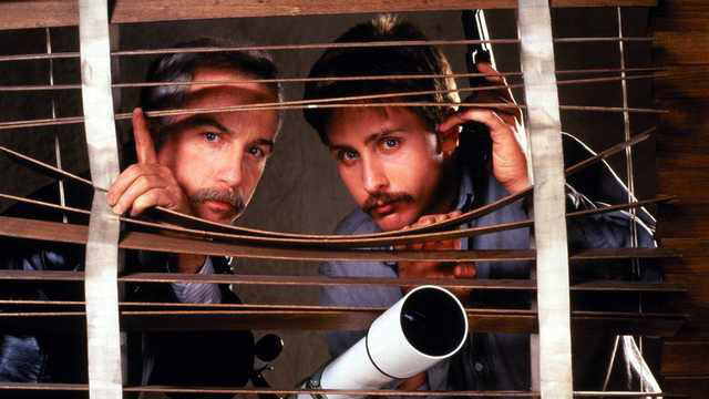 Richard Dreyfuss & Emilio Estevez in Stakeout