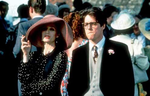 Kristen Scott-Thomas & Hugh Grant in Four Weddings & A Funeral
