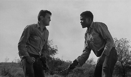 Tony Curtis & Sidney Poitier in The Defiant Ones