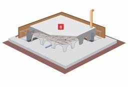 Ohne zusätzliche Energie wird Radon und Nässe durch die Thermik ins Freie geleitet