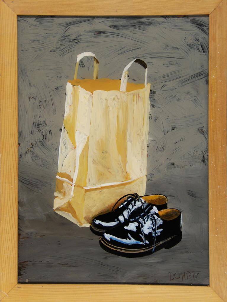 Shopping, 2009, 40 x 50 cm, Hgl, Privatsammlung Krefeld