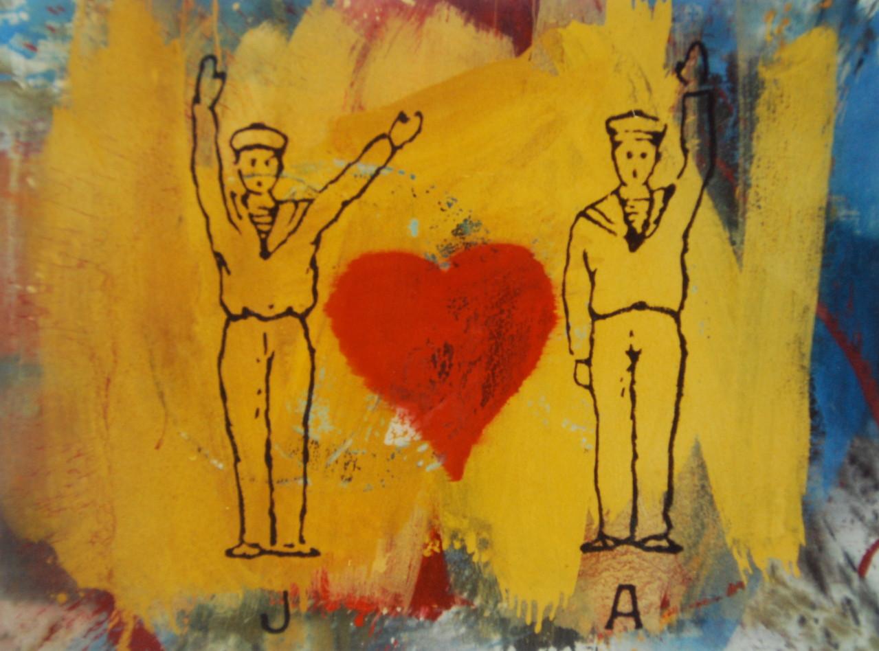 Gute Nachricht, 1988, 160 x 120 cm, Privatsammlung Neuss