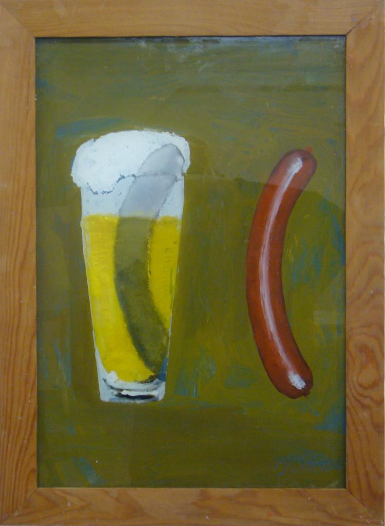 Bierwurst, 2008, 40 x 50 cm, Hgl, Privatsammlung Düsseldorf