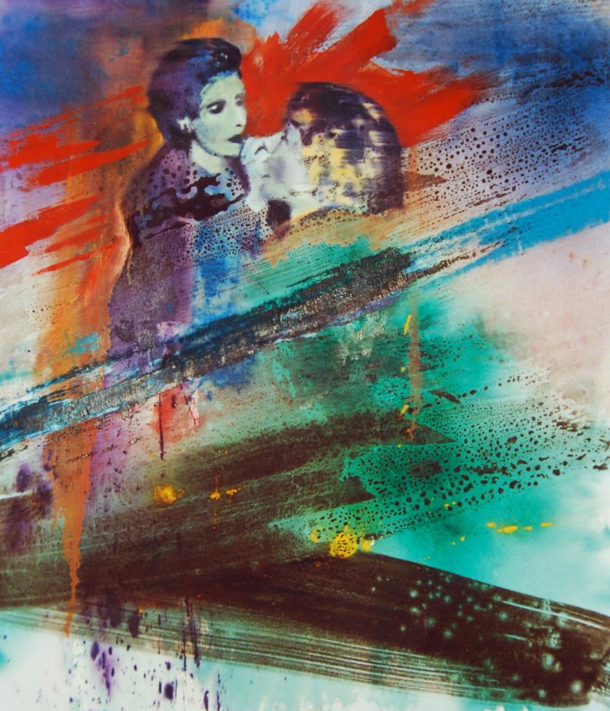 Aktuelle Malerei, 1988, Mischt./LW., 120 x 150 cm, Institut Blauscheck Düsseldorf