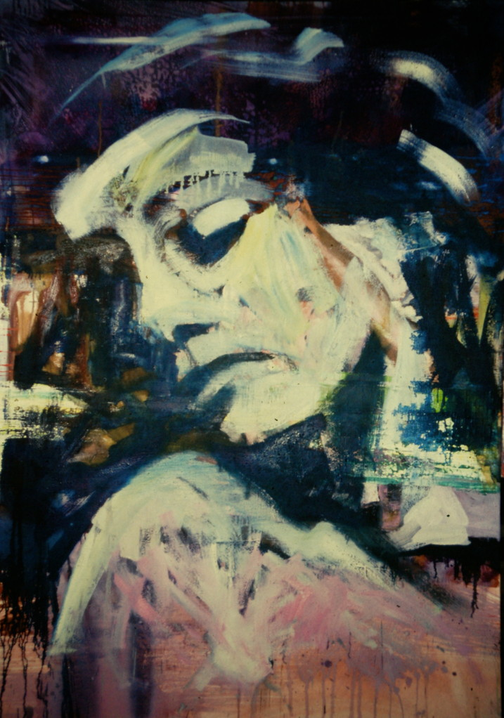 Rita, 1988, Mischt./LW, 110 x 150 cm, Privatsammlung Düsseldorf