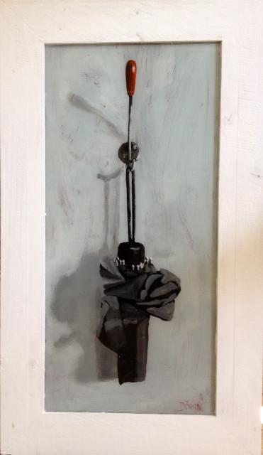 Knirps am Haken,2012,  Hgl, 44 x 74 cm, Privatsammlung