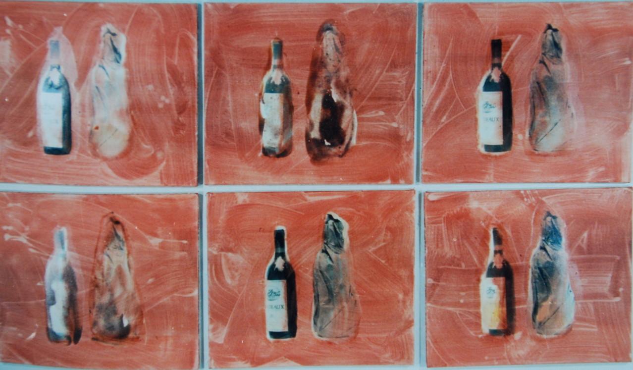 Wissen und Vermutung, 1992, je 50 x 50 cm, Privatsammlung