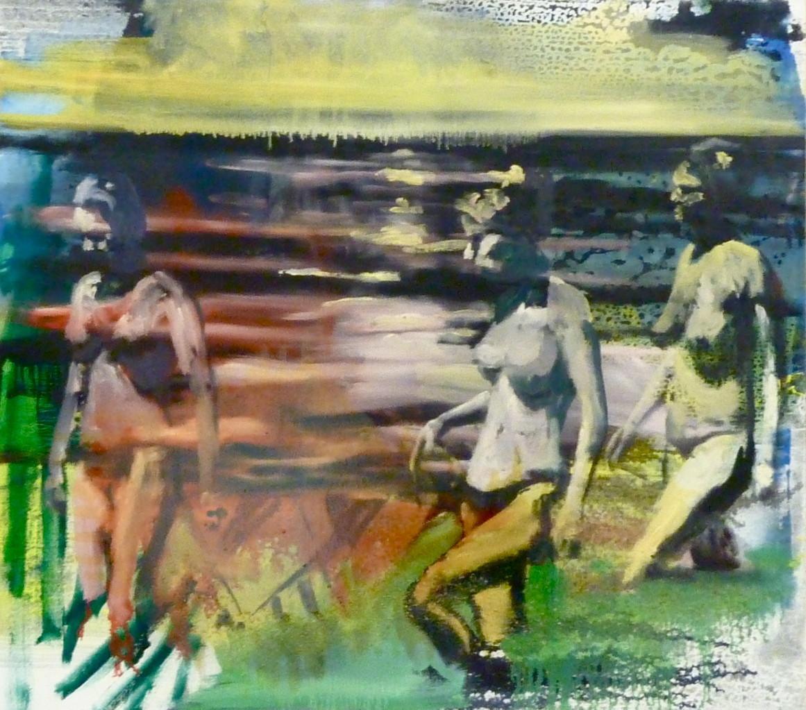Frauen am Wasser , 120 x 150, Privatsammlung London