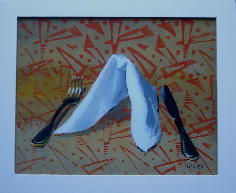 O.T. 2011, 55 x 40, Hinterglasmalerei, Privatsammlung
