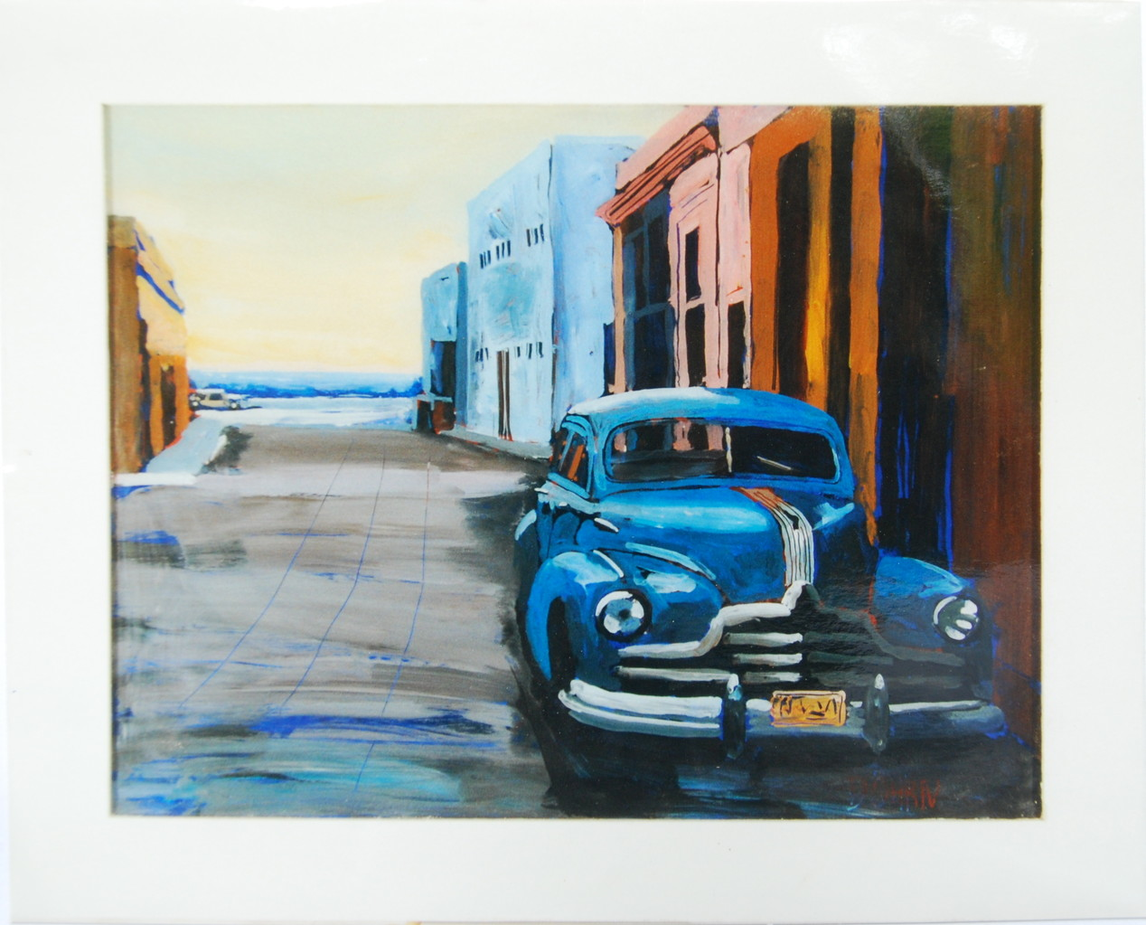 Cuba, 1993, Hinterglasmalerei, ca. 75 c 60 cm, Privatsammlung