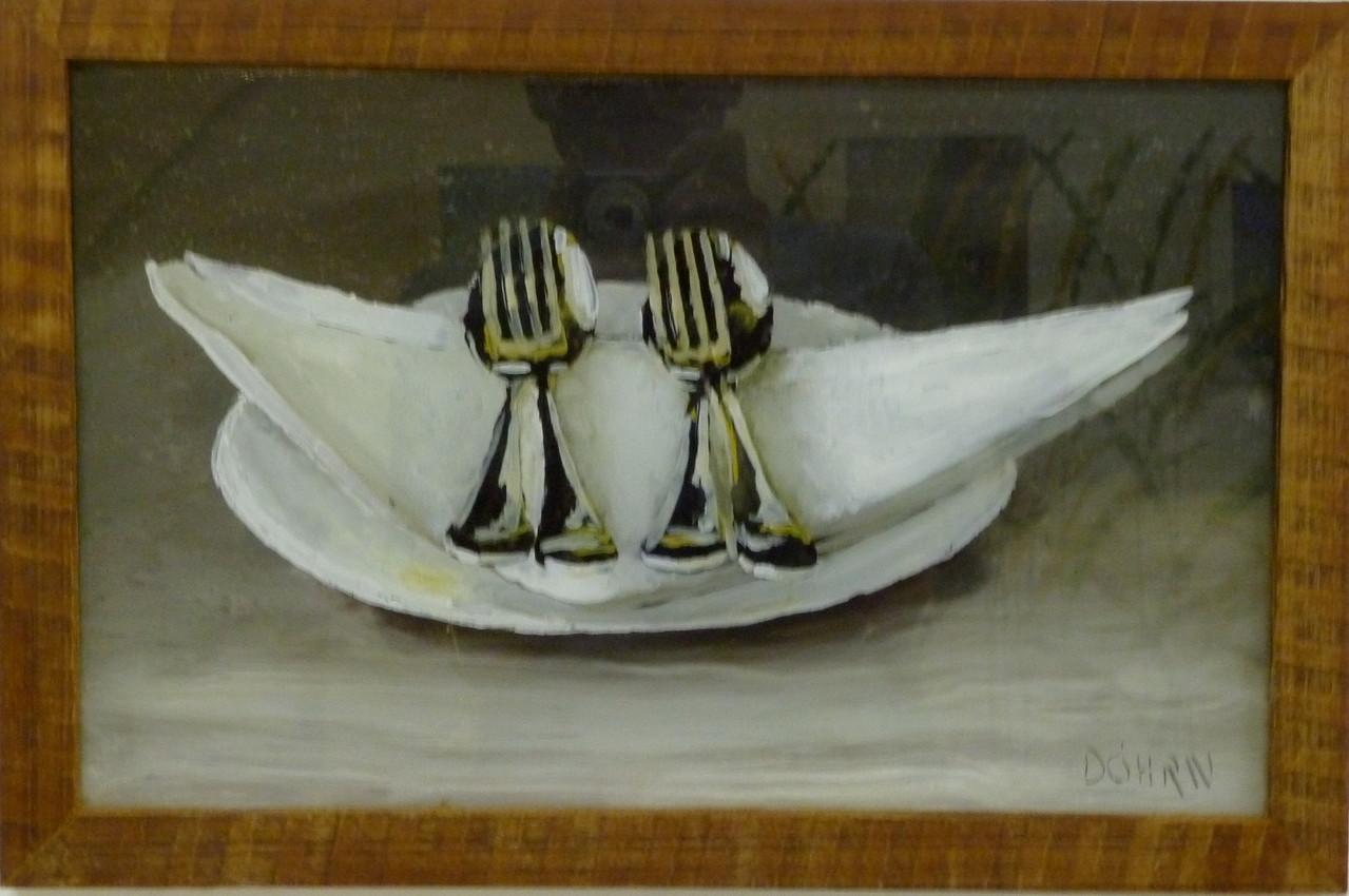 O.T. 2011, 50 x 30, Hinterglasmalerei, Privatsammlung