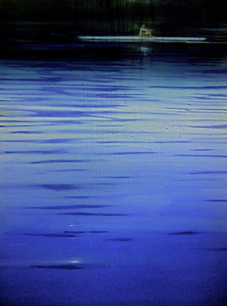 Blaue Nacht, 2008, Mischtechnik auf LW, 96 x 130 cm, Privatsammlung