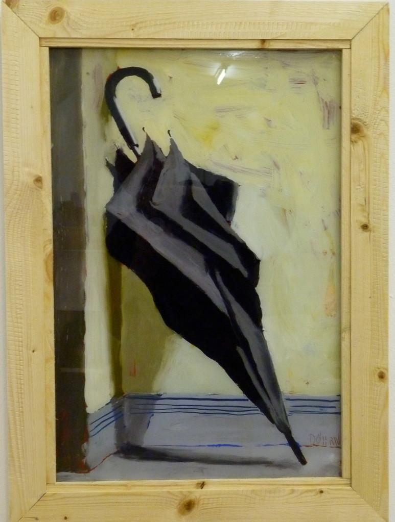 Schirm 2011, 42 x 88, Hinterglasmalerei, verk. MALKASTEN DÜSSELDORF