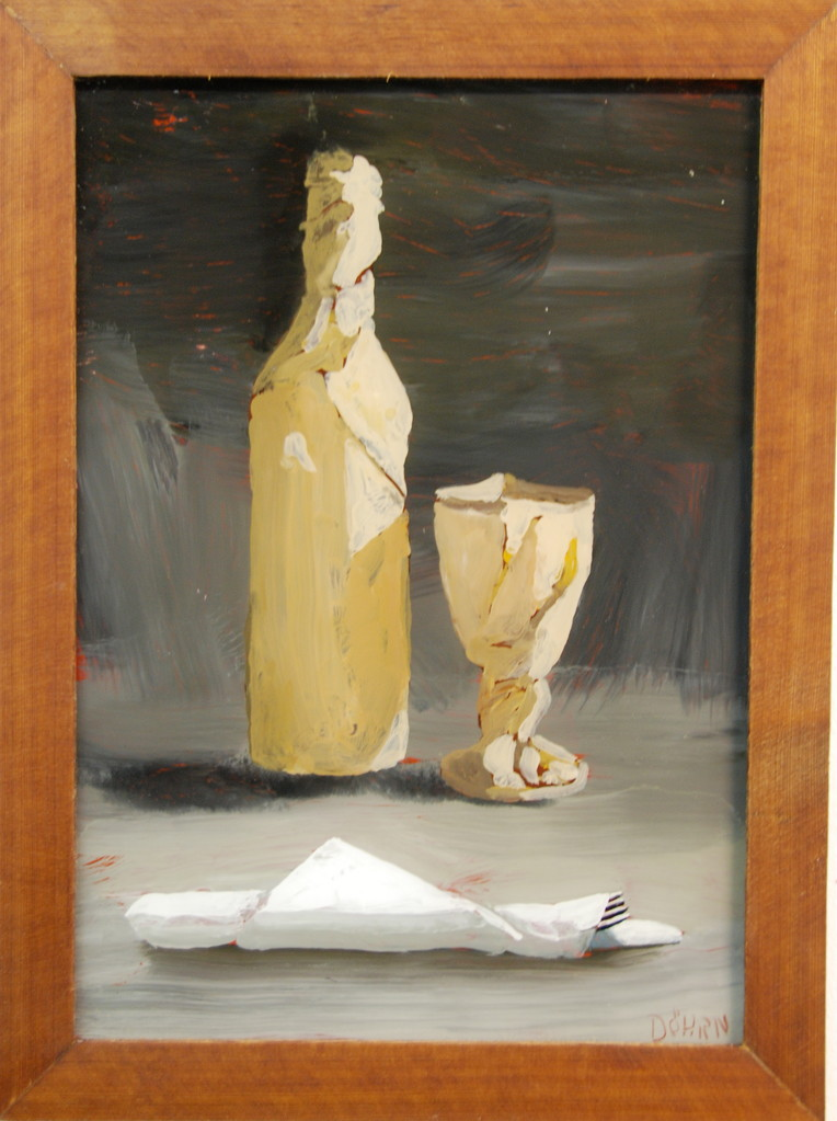 O.T., 2011, 38 x 44, Hinterglasmalerei, Privatsammlung