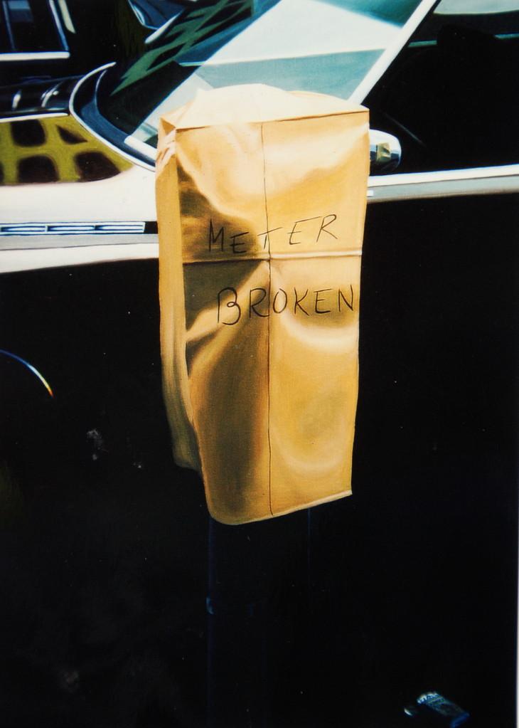 Meter Broken, 1983, Öl/LW, 105 x 125, Privatsammlung