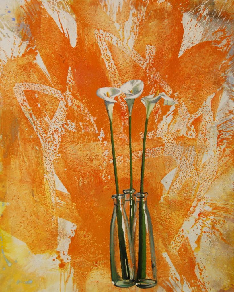 Calla,  27.06.2000, 120 x 150 cm, Mischt./LW, Privatsammlung Zürich