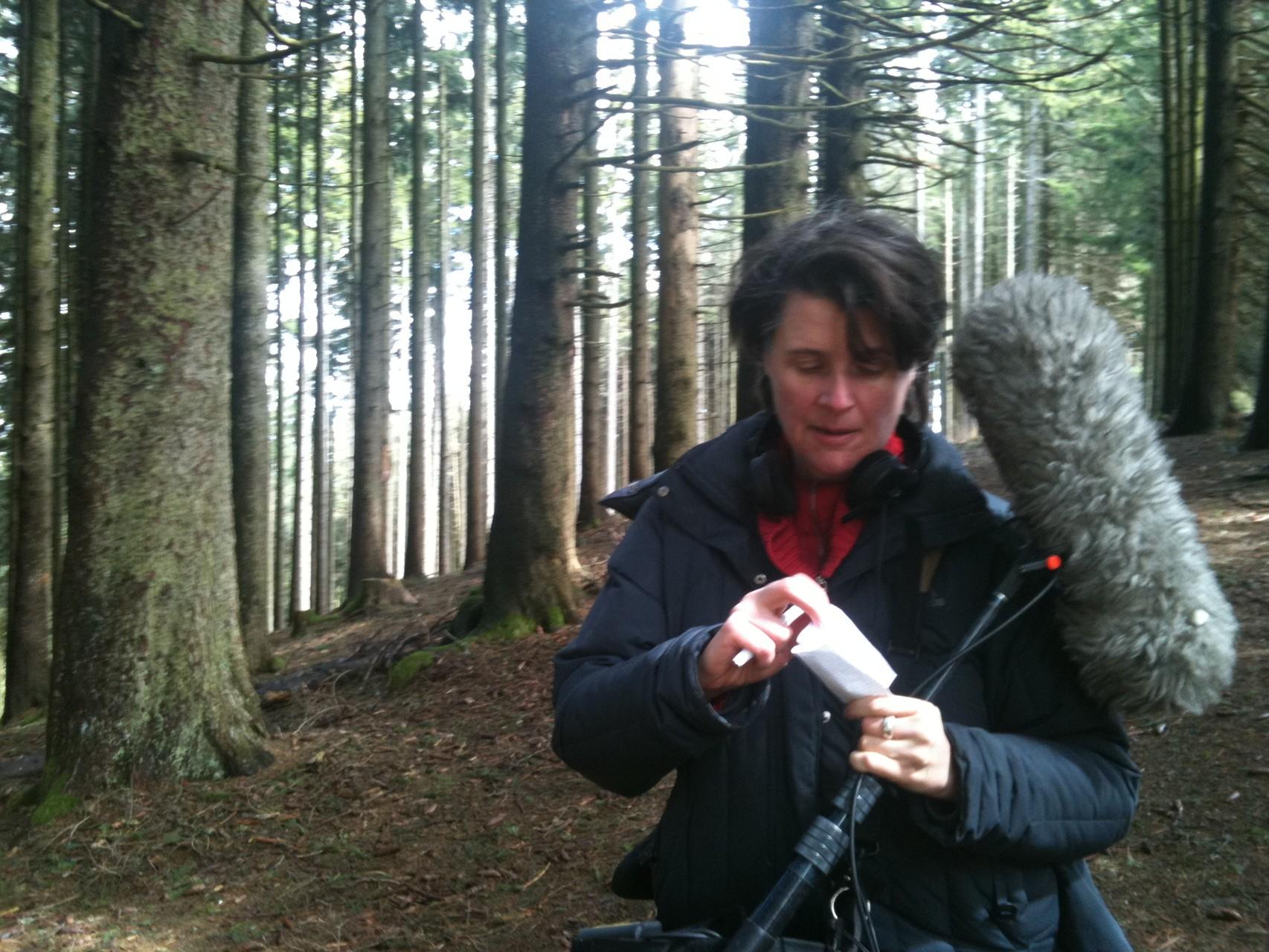 Tonaufnahme im Wald