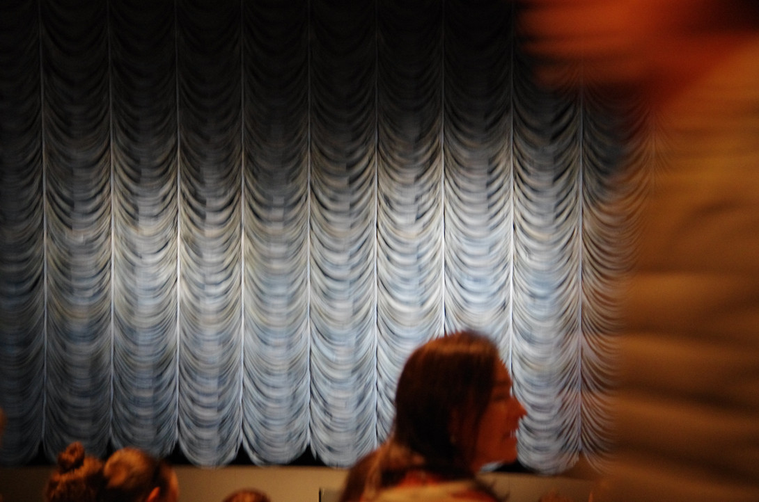 Toller Vorhang im Kinosaal!