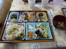 精進薬膳弁当 寺の周辺食材で作りました