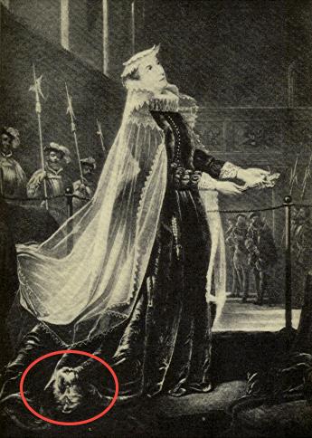 Maria Stuarda - un Cavalier King spunta da sotto le sue gonne